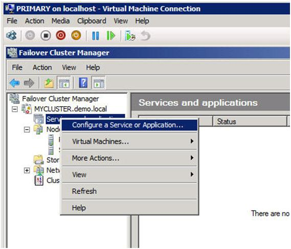 Figure 10 – Creating a MSDTC resource