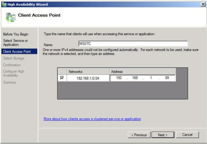 Figure 12 – Choose a name and IP address