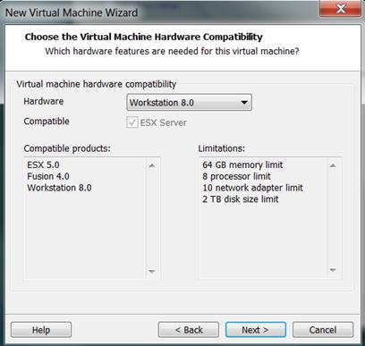 VMware Workstation 8에서 Windows Server 8 Beta를 설치하는 방법