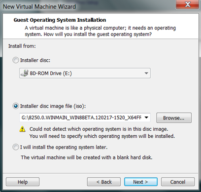 How to Install Windows Server 8 Beta on VMware Workstation 8 (3/6)