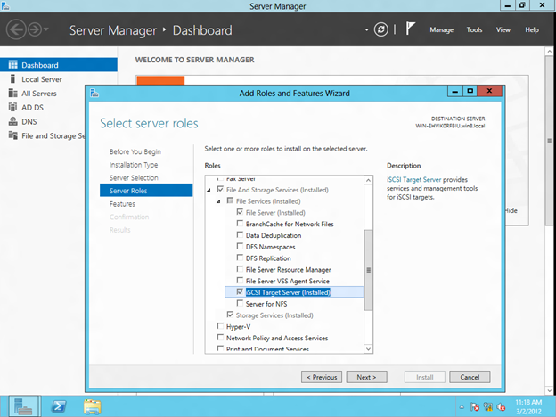 Step-by-Step: Configuring Windows Server 8 Beta iSCSI Target Software for Use in a Cluster (5/6)
