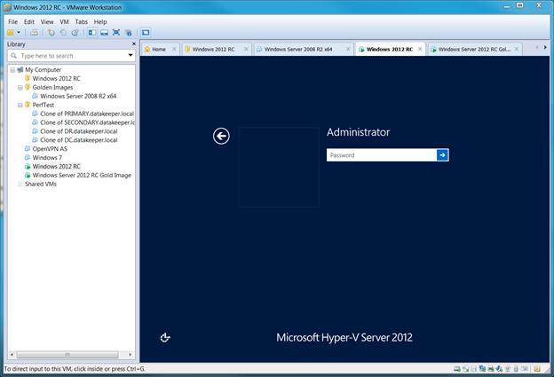 在VMware Workstation上分步安装Windows Server 2012
