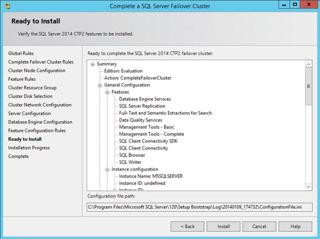 Creating a SQL Server 2014 AlwaysOn Failover Cluster (FCI
