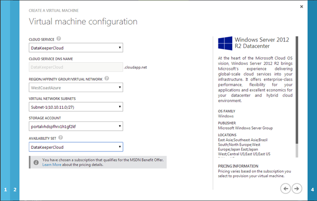 Windows Azure High Availability Options For SQL Server
