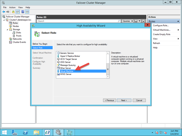 Configuring A Sanless Hyper-V Failover Cluster With DataKeeper Cluster Edition