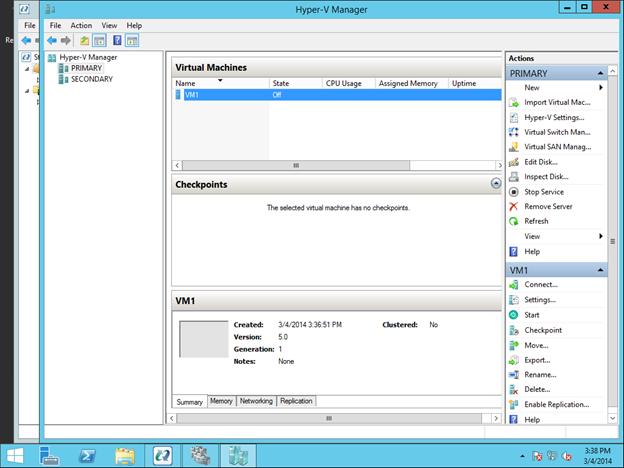 Mengkonfigurasi Cluster Failover Sanless Hyper-V dengan Data Cluster Cluster