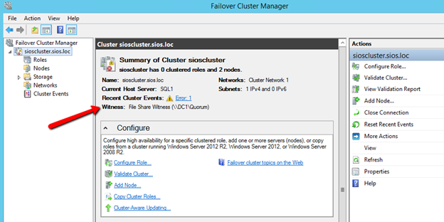 Step-by-Step: How to configure a SQL Server Failover Cluster