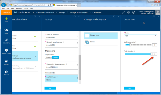 Three Fault Domains In Azure Now Default When Using Resource Manager Deployment Model