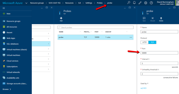 Azure ILB In ARM For SQL Server Failover Cluster Instances