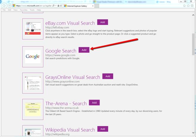 Change Internet Explorer 11 From Bing To Google