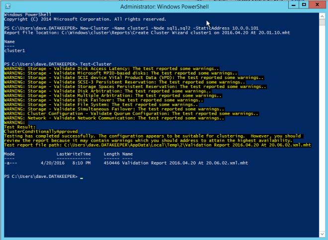 ปรับใช้ SQL Server Failover Clusters ใน Azure Resource Manager