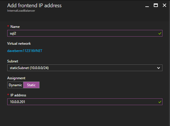 Multi-Instance SQL Server Failover Cluster With New Azure ILB Feature