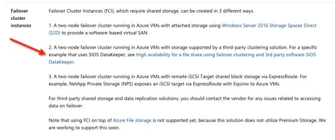 Quick Start Guide: SQL Server Clusters On Windows Server 2008 R2 In Azure