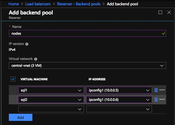 Backend Pools