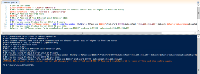 windows server failover cluster